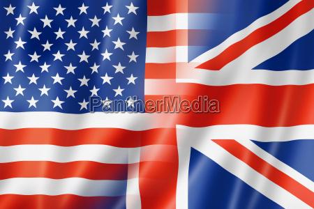 usa og uk flag
