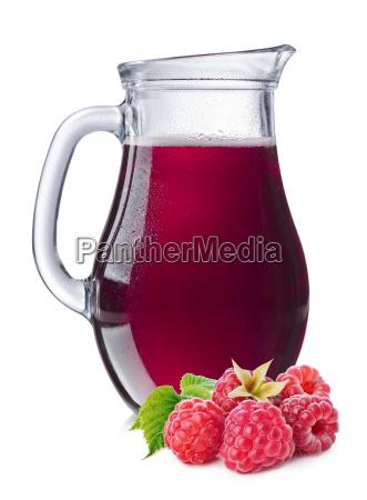 hindbær, saft, i, en, kande - 14934587