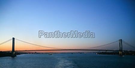 bro solnedgang aftenrode mellemstykke suspension new