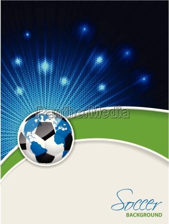 abstrakte soccer brochure med bursting kort