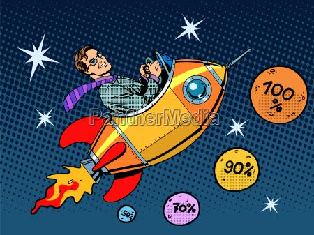 space closeout forretningskoncept vaekst i salg