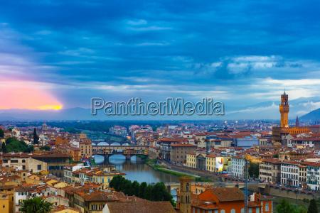 ponte vecchio and palazzo vecchio florence