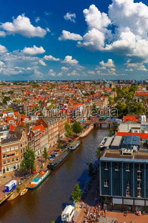 amsterdams udsigt fra westerkerk holland holland