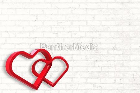 romantisk mur mursten teglsten valentinsdag digital