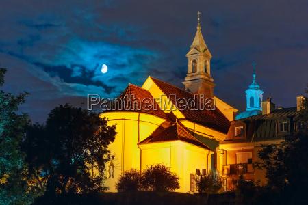 church of saint benson at night