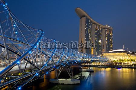 singapore singapore marina bay helix bridge