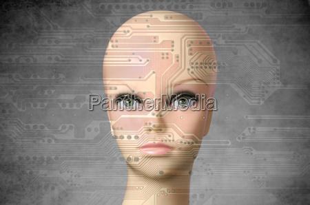 kvindelig ansigt ojne kunstigt kvindelige holde