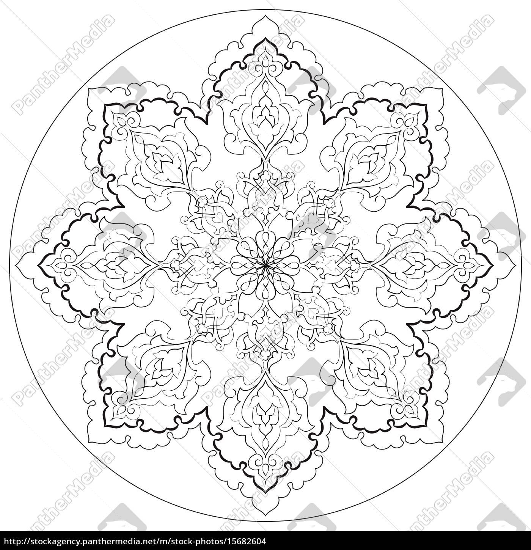 antikke, osmanniske, tyrkiske, mønster, vektor, design - 15682604