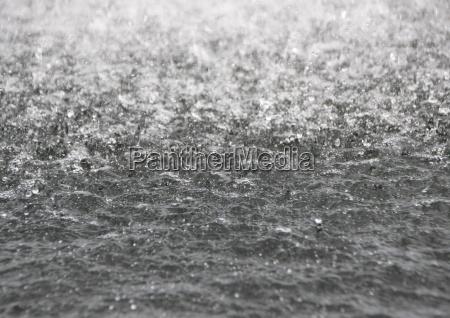 billede af kogende vandoverflade med perspektivbaggrund