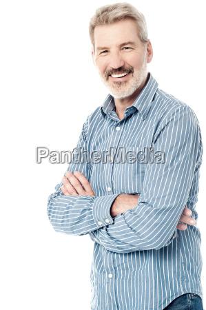 casual pose of a senior man