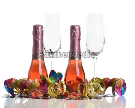 drikkevarer glas champagne arsskiftet nye ar