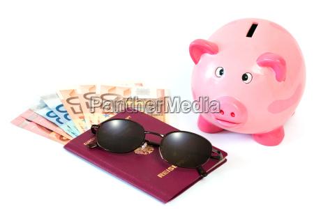 pas med penge og sparegris