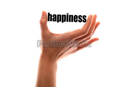mindre lykke koncept