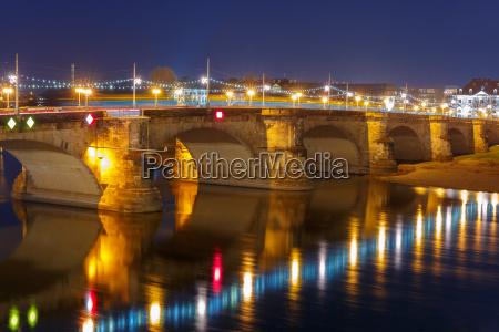 augustus broen elba om natten dresden