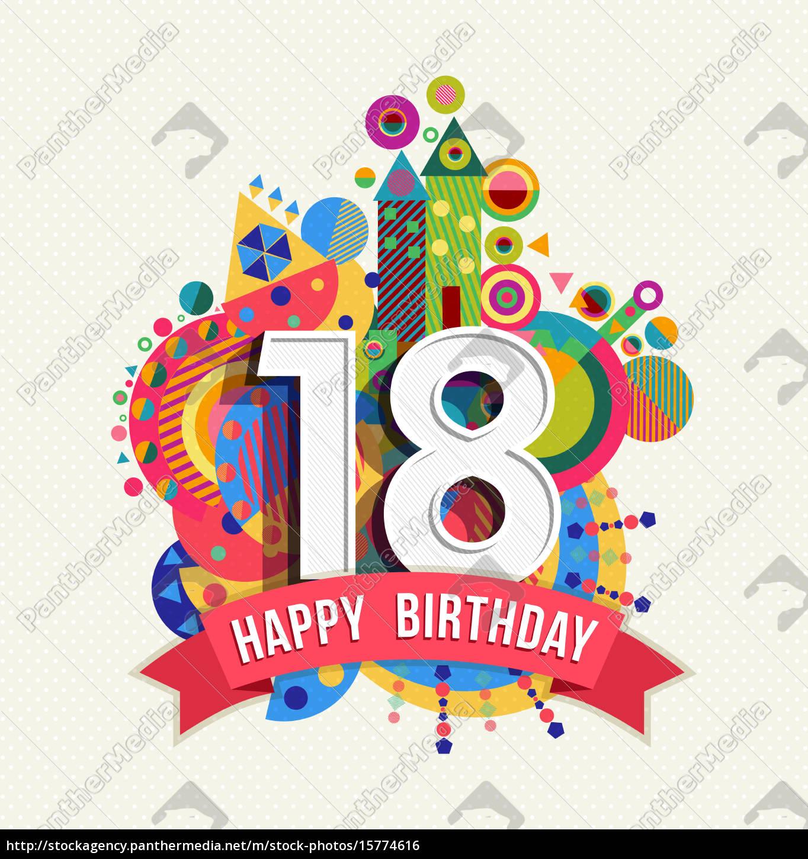 Fødselsdagskort 18 års Fødselsdagshilsner