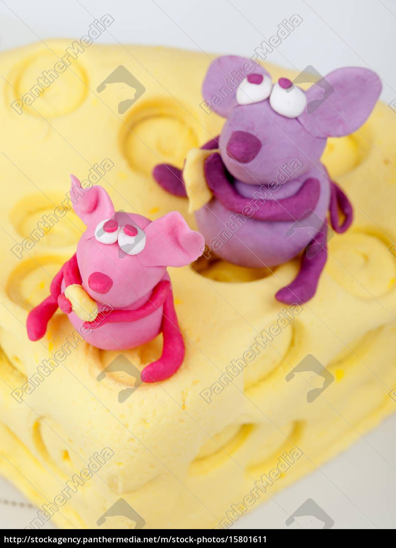 mice, on, cheese, fondant, cake, mice, on - 15801611