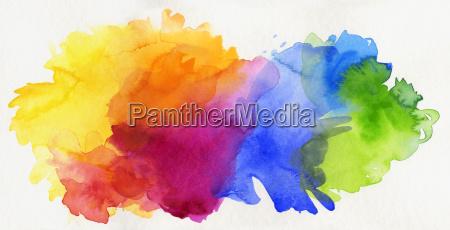 akvarel regnbue undtaget abstrakt