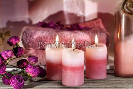 benessere rose candele asciugamani sauna terme