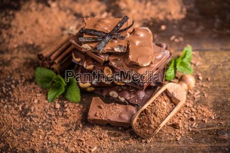 mork hasselnodde chokolade