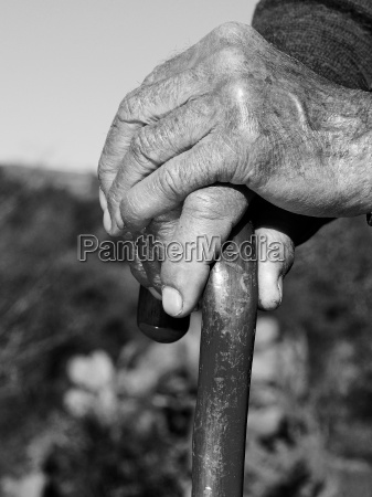 hand ensomhed vener rynket rynke gammelt