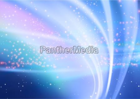 abstrakt aurora og starry baggrund