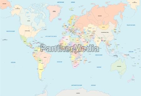 verdenskortet pa tysk sprog