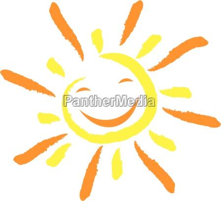 sol og smil ansigt latter