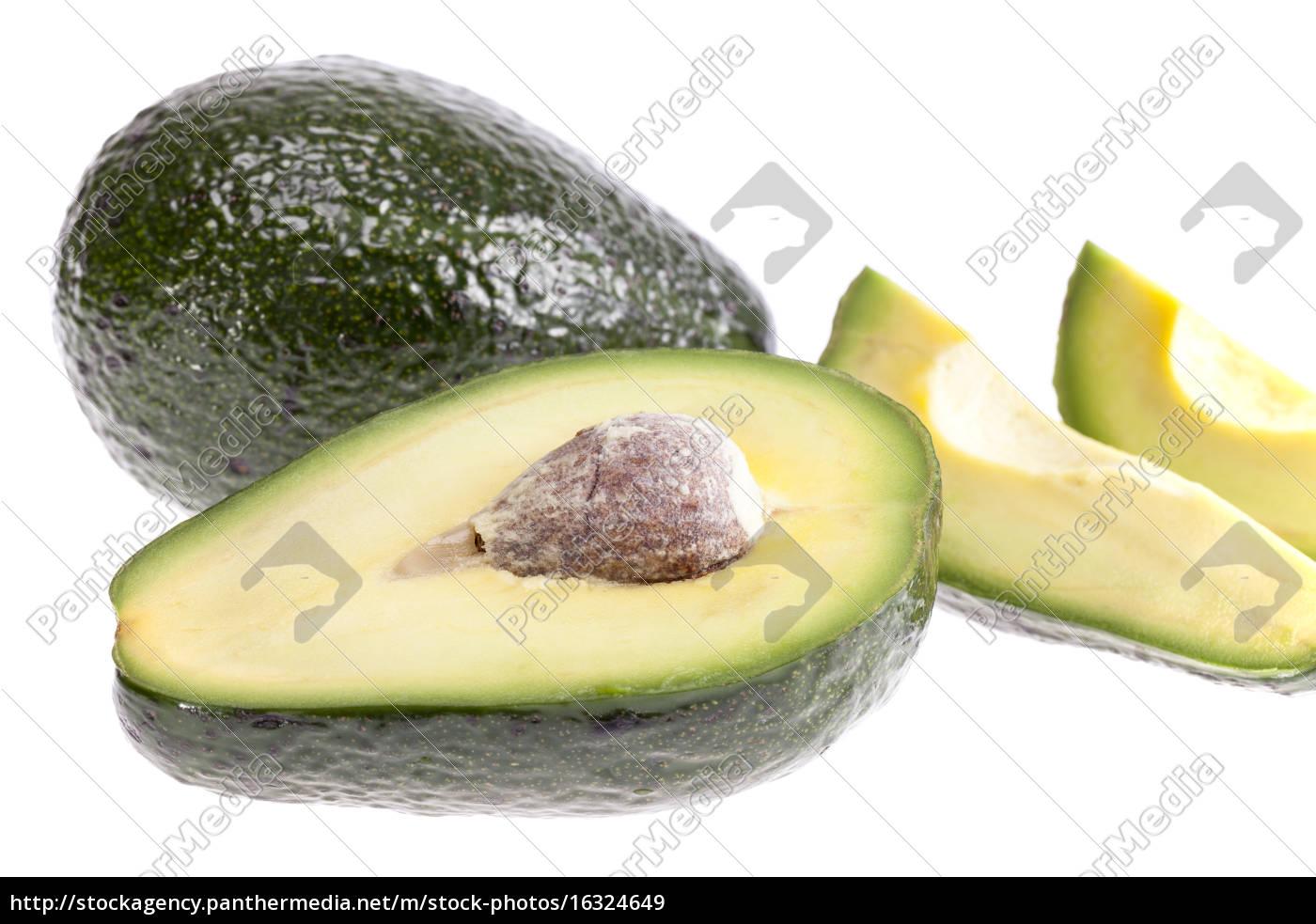 nogle, stykker, avocado, isoleret, på, hvid - 16324649