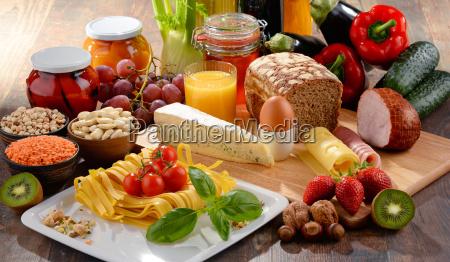 sammensætning, med, forskellige, økologiske, fødevarer - 16324793