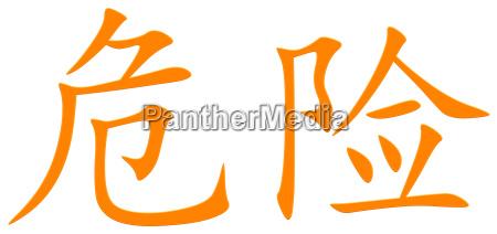 kinesisk tegn for fare