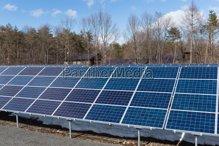 solar panel system in forest