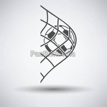 fodboldkugle i port net ikon