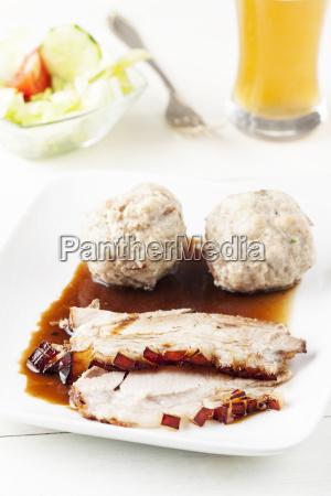 bavarian roast pork on a plate