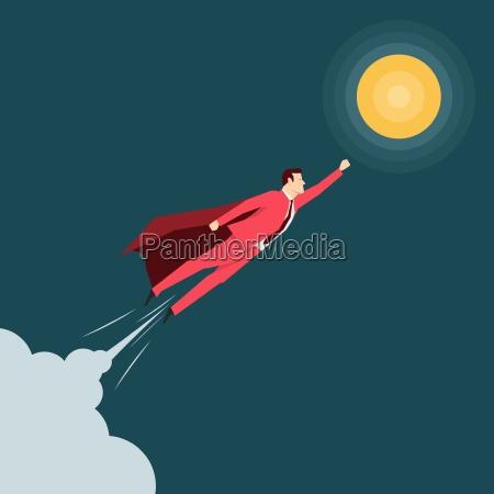 red, suit, forretningsmand., super, helt., vektor - 16704930
