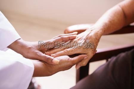 gamle mennesker i geriatriske hospice