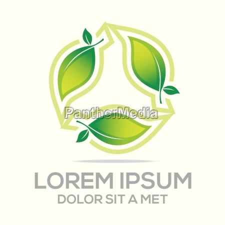 logo bio leaves