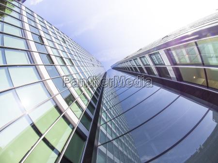 tyskland hessen frankfurt city haus glas