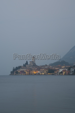 italy veneto malcesine view of the