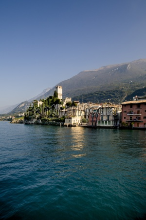 italy veneto malcesine with castello scaliger