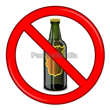 no beer sign isolated on white