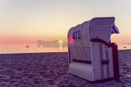 germany ruegen binz beach at sunset