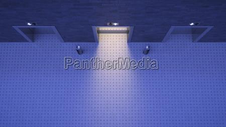 bla korridor moderne morke dunkelhed indgang