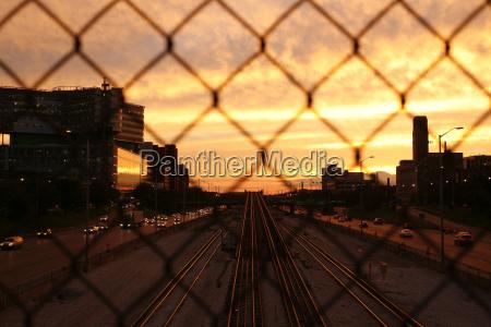290 the eisenhower expressway wat sunset