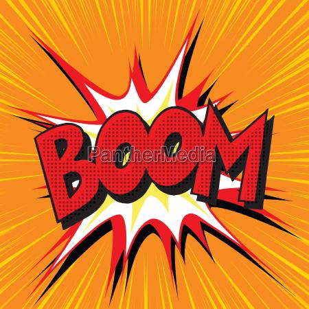 boom eksplosion tegneserie tekst pop art