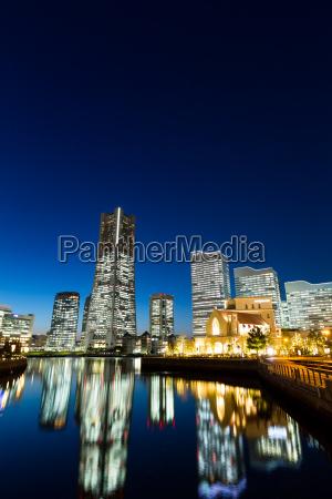 yokohama, city, at, night - 17755316