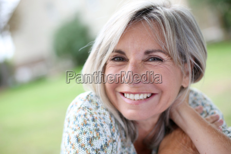 portrait of serene mature woman in
