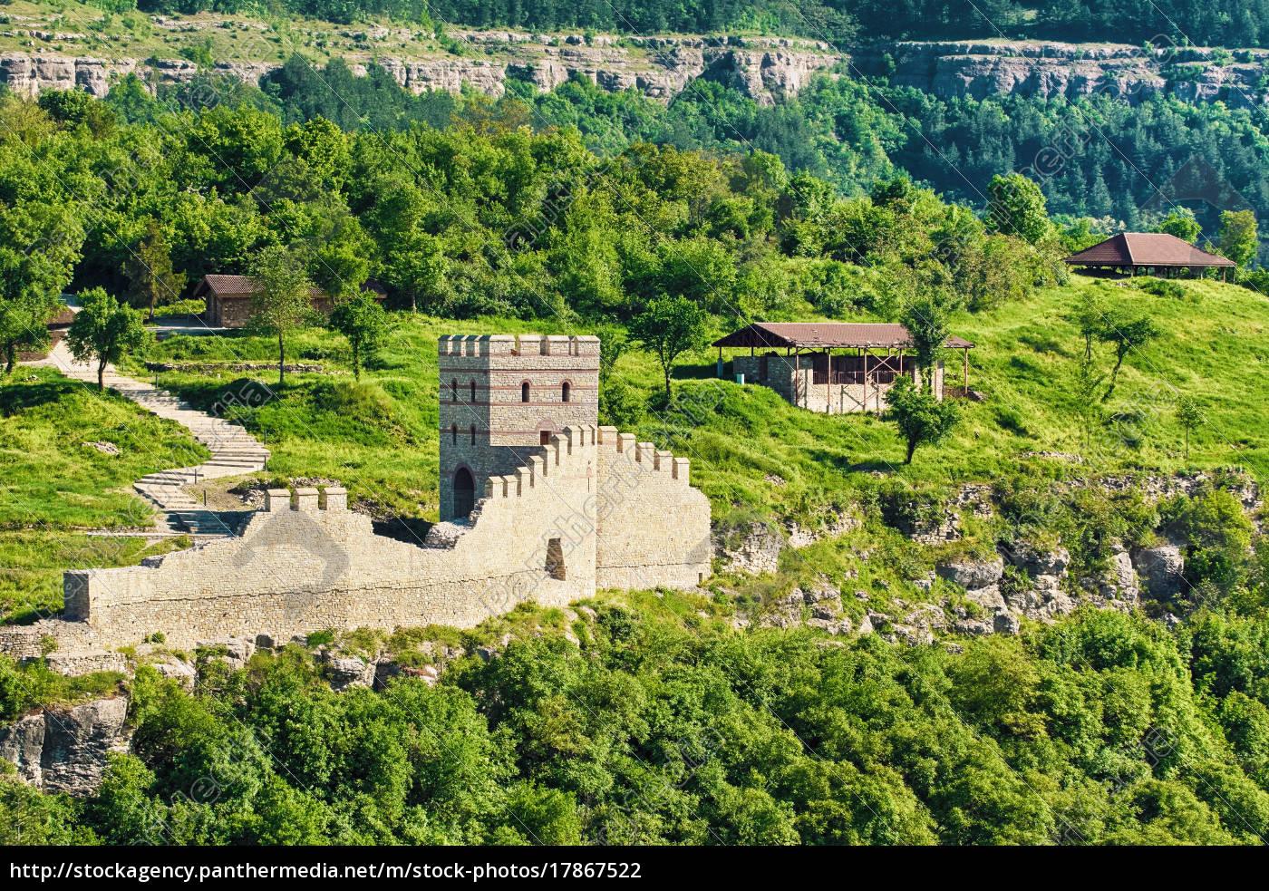 rester, af, en, gammel, fæstning - 17867522