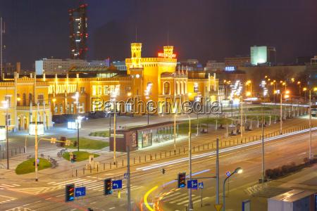wroclaw main railway station poland
