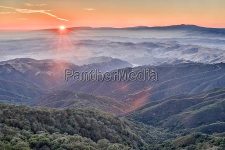 solnedgang ved fremont peak state park