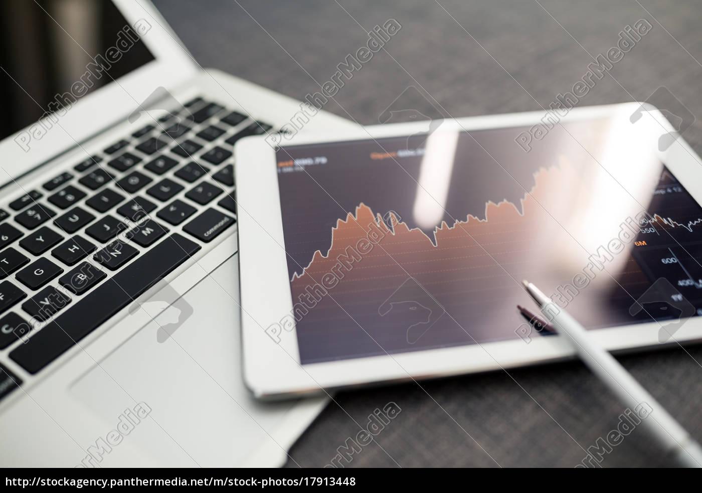 aktiemarkedet, handel, og, forskning, software, på - 17913448